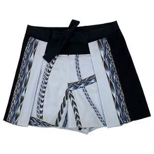 Vintage Hermes Paris Blue Cotton Mini Shorts, Size 38