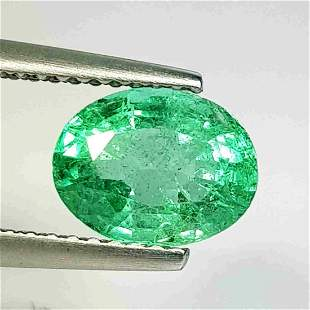 Natural Emerald Oval Cut 01.68 ct