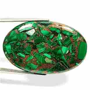 54.20 ct Natural Copper Malachite