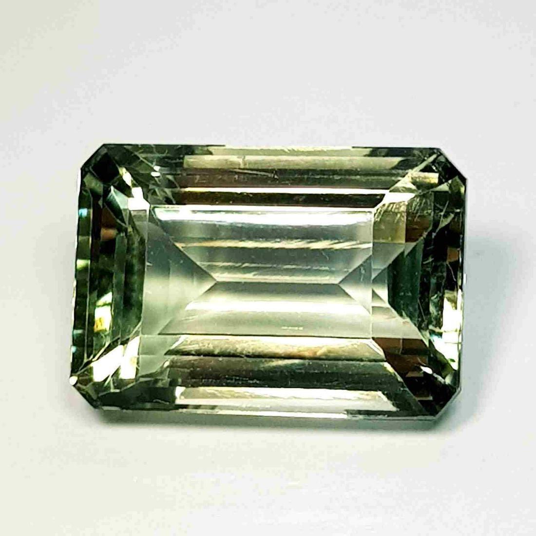 Natural Green Amethyst Emerald Cut 15.45 ct