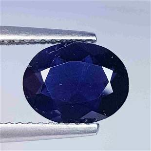 1.34 ct Natural Iolite Oval Cut