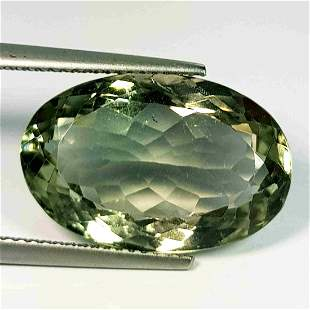 Natural Green Amethyst Oval Cut 11.82 ct