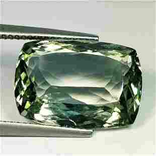 Natural Green Amethyst Rectangular Cushion Cut 11.65ct