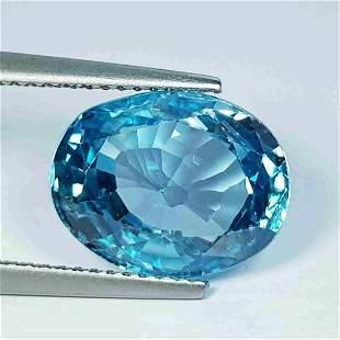 """12.63 Ct """" IGI Certified """" Natural Blue Zircon"""
