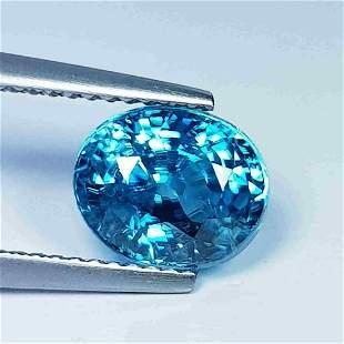 """4.01 Ct """" IGI Certified """" Natural Blue Zircon"""