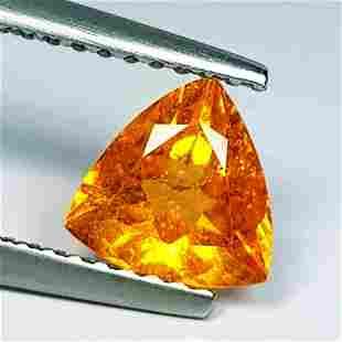 Natural Spessartite Garnet Triangle Cut - 1.18 ct
