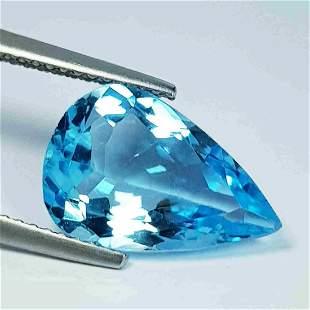 5.05 ct Natural Blue Topaz Pear Cut
