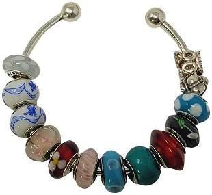 Bracelet with Pandora Bead Charms