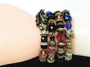 Sweet Romance USA Snake Serpent Coil Cuff Bracelet