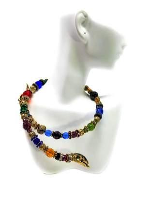 Sweet Romance USA Serpent Snake Coil Necklace Choker