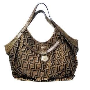 Fendi Chef Pocket Zucca Large Monogram Shoulder Bag