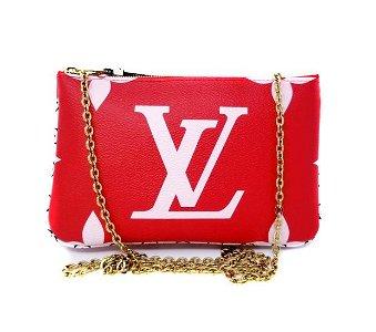 Louis Vuitton Double Pochette Zipper Giant Monogram