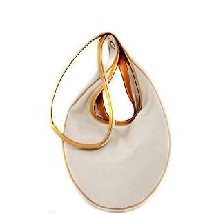 Hermes Sac Luco Natural Canvas Leather Shoulder Bag