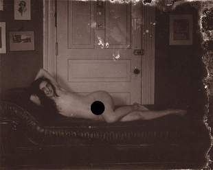 E. J. BELLOCQ - Storyville Prostitute, Nude Reclining