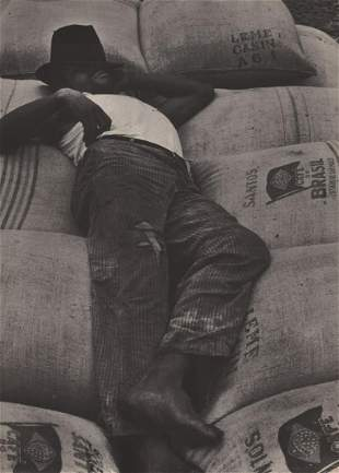 MARGARET BOURKE WHITE - Coffee Worker, Brasil, 1930's