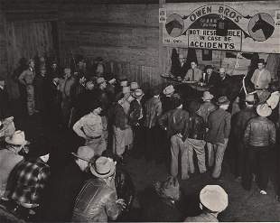 MARGARET BOURKE WHITE - Horse-trader auction