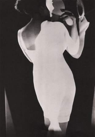 MAURICE TABARD - Femme et miroir (surimpression), vers