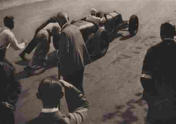 HEINZ VON PERCKHAMMER - Starting the Avus, 1930's