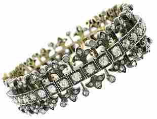 Victorian Diamond Silver Rose Gold Bangle BRACELET