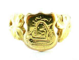 Victorian 18k Yellow Gold Signet Ring