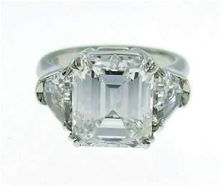 Harry WINSTON Diamond Platinum RING 4.03-ct E VS1