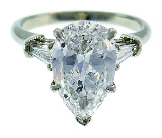 Harry WINSTON Diamond Platinum RING 3.60-ct D VVS1 Pear