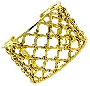 Verdura Kensington Yellow Gold BANGLE BRACELET CUFF