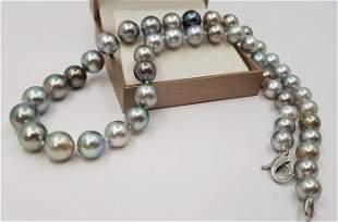8x11mm Pastel Multi Coloured Tahitian Pearls - 14 kt.
