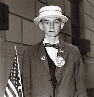 DIANE ARBUS - Boy in a Pro-War Parade, NYC, 1967