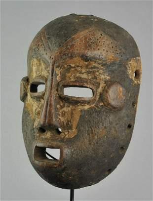 Large LEGA Bwami cult wooden Face Mask Congo Drc Warega