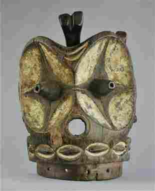 Large BEMBE Alunga Society Echwaboga Mask Congo DRC