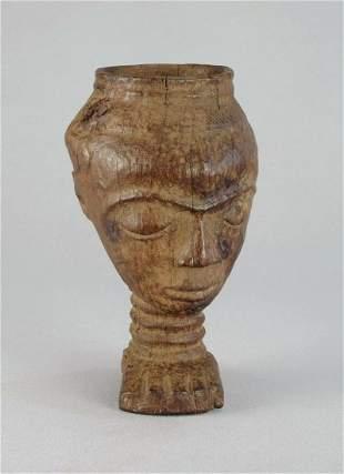 Stunning PENDE Palm Wine Cup Congo Drc no Kuba African