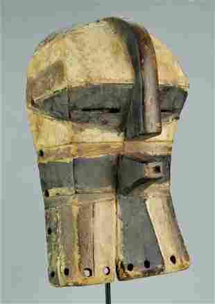 Beautiful LUBA Kifwebe Wood Mask Congo DRC Baluba