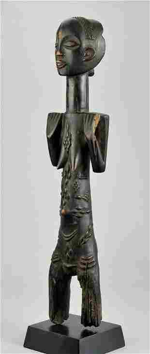 """Large 22"""" LUBA Female Cult Figure Statue Congo DRC"""