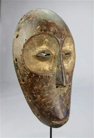 Nice LEGA Bwami Cult wood Mask Congo DRC African Tribal
