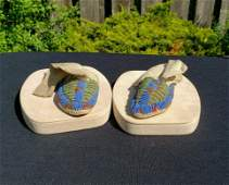19th Century Beaded Children Indian Moccasins # 2, From