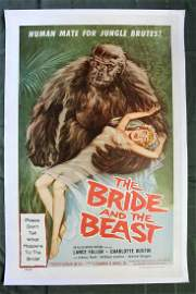 The Bride and The Beast (1958) US One Sheet Movie
