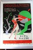"""Dodsdansen - Art by Rohman (1927) 28"""" x 39"""" Swedish"""