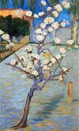 Oil painting Small Pear Tree in Blossom Serdyuk Boris
