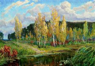 Oil painting Natural beauty Zhabinsky Leonid Andreevich