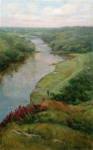 Oil painting Along the shore Babentsova Yelena