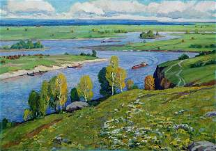 Oil painting Above the Desna Elbert Victor Davydovich