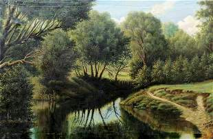 Oil painting In the thick of the forest Tolkach