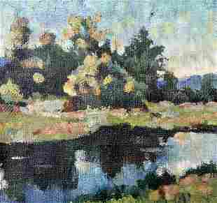 Oil painting Natural scenery Unknown artist