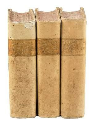 VELLUM BOUND 1745 ANTIQUE VOLUMES HISTORY OF TRENT