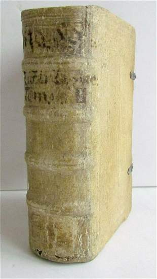 1595 LIVES of SAINTS by Zachariae Lippeloo antique