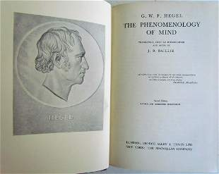 PHENOMENONOLOGY OF MIND by J.B. BAILLIE 1931 in ENGLISH