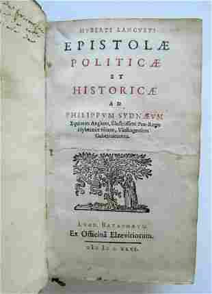 1646 POLITICAL & HISTORICAL WORKS Hubert LANGUET