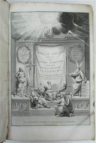 1732 BIBLE BIBLIA NEERLANDICA antique OLD & NEW