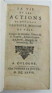 1679 La vie et les actions de M. Cristofle Bernard de